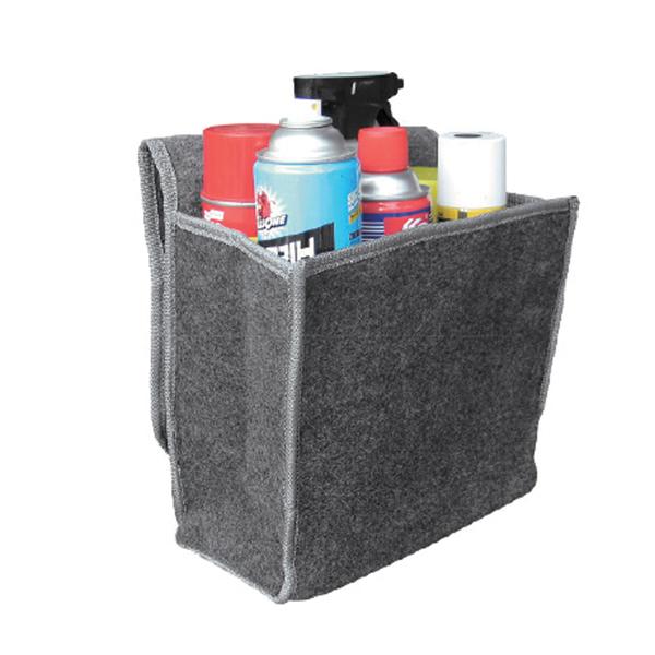 Sakura SS5232 Car Boot Organiser Storage Bag Small Grey Carpet Hook Loop Strip