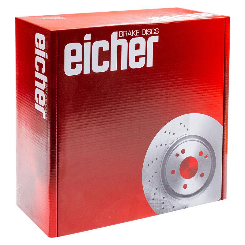 Eicher LW10219 Rear Right Left Brake Disc Kit 2 Pieces 286mm Diameter Solid