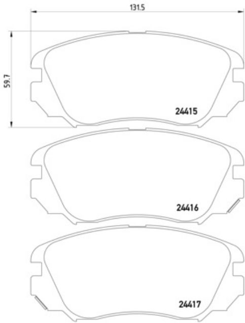 PAGID FRONT AXLE BRAKE PAD SET BRAKE KIT BRAKE PADS FOR VAUXHALL INSIGNIA