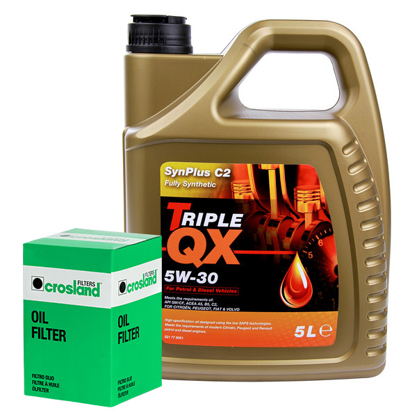 Triple-QX-Fully-Synthetic-Plus-C1-5W30-Engine-Oil-5L-and-Oil-Filter-Service-Kit