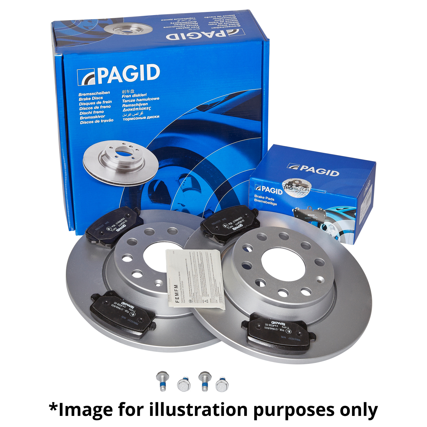 PAGID REAR AXLE EXTERNALLY VENTED BRAKE DISCS 54393 Ø 305 mm BRAKE KIT BRAKES