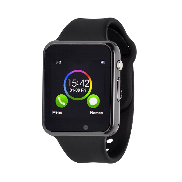 Object Smart Watch Black Emails Texts Incoming Calls Apps Access