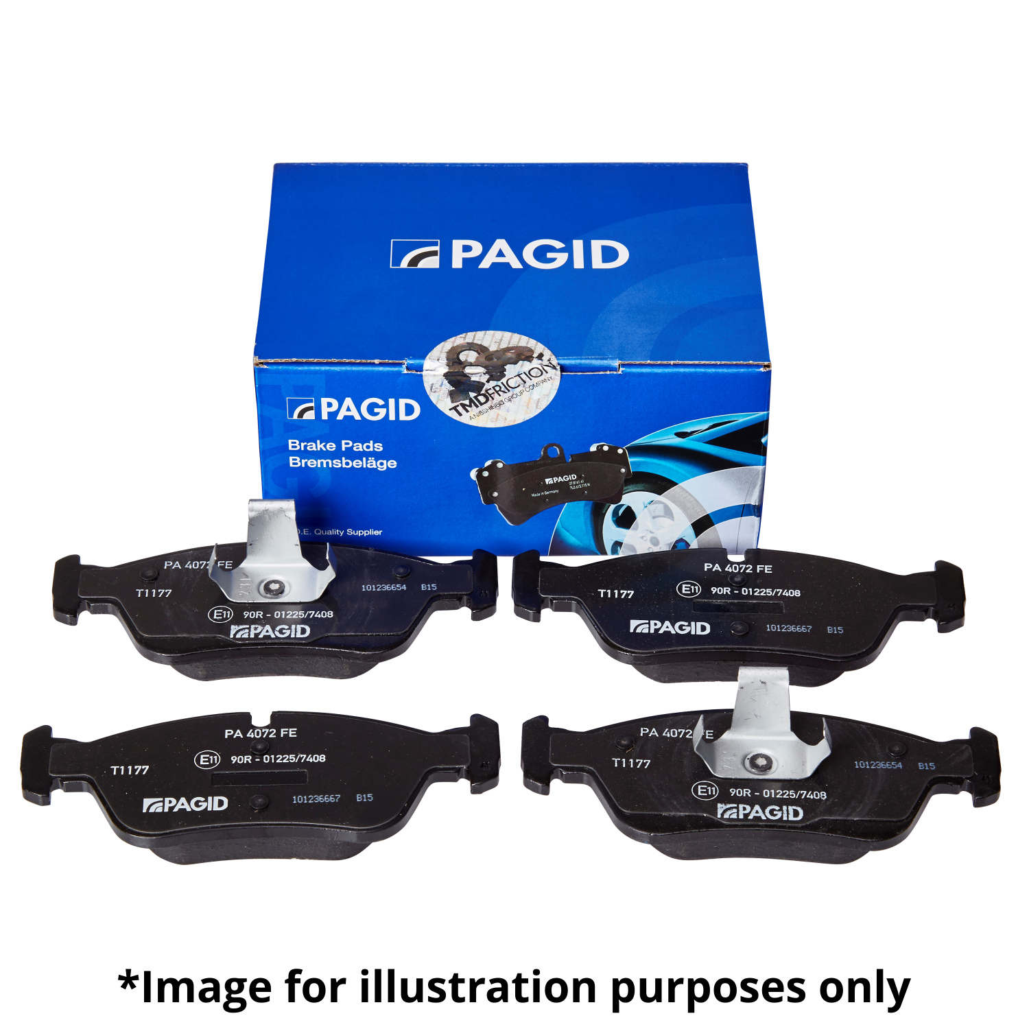 Pagid Front Axle Brake Pad Set Kit Pads For Mercedes 2002 Benz C240 I Connect Indicatorbraketail Lampswiring Image Is Loading