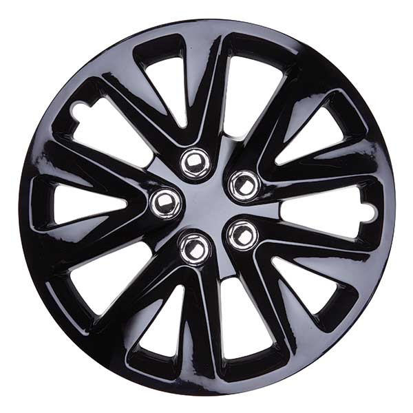 Details about TopTech Velocity 14 Inch Wheel Trim Set Gloss Black Set of 4 Hub Caps Covers