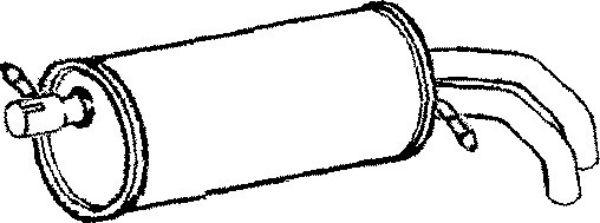 Exhaust Rear Back Box VW Sharan FE897P Klarius Seat Alhambra Ford Galaxy