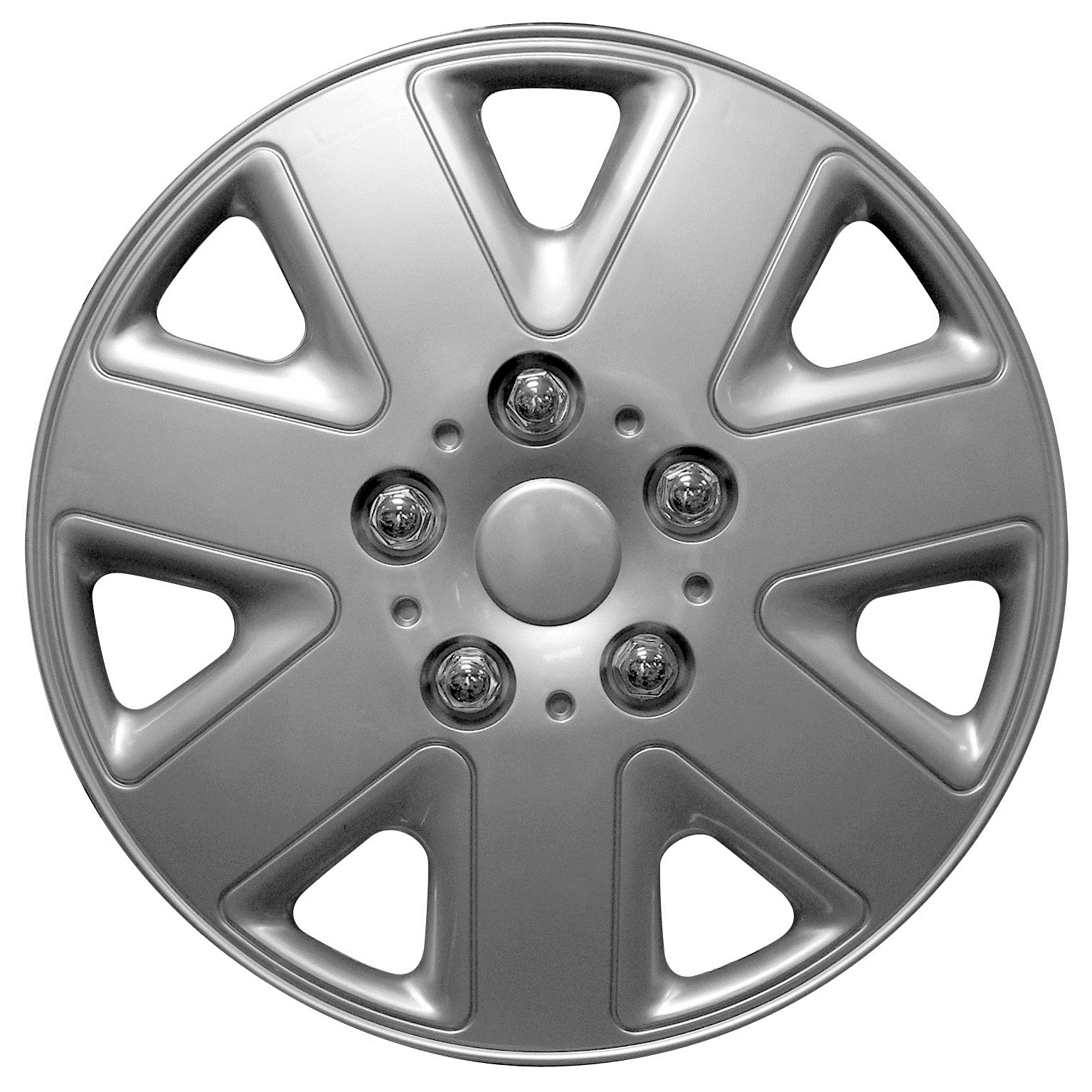 Details about Streetwize Hurricane 14 Inch Wheel Trim Set Silver Set of 4 Hub Caps Covers 14