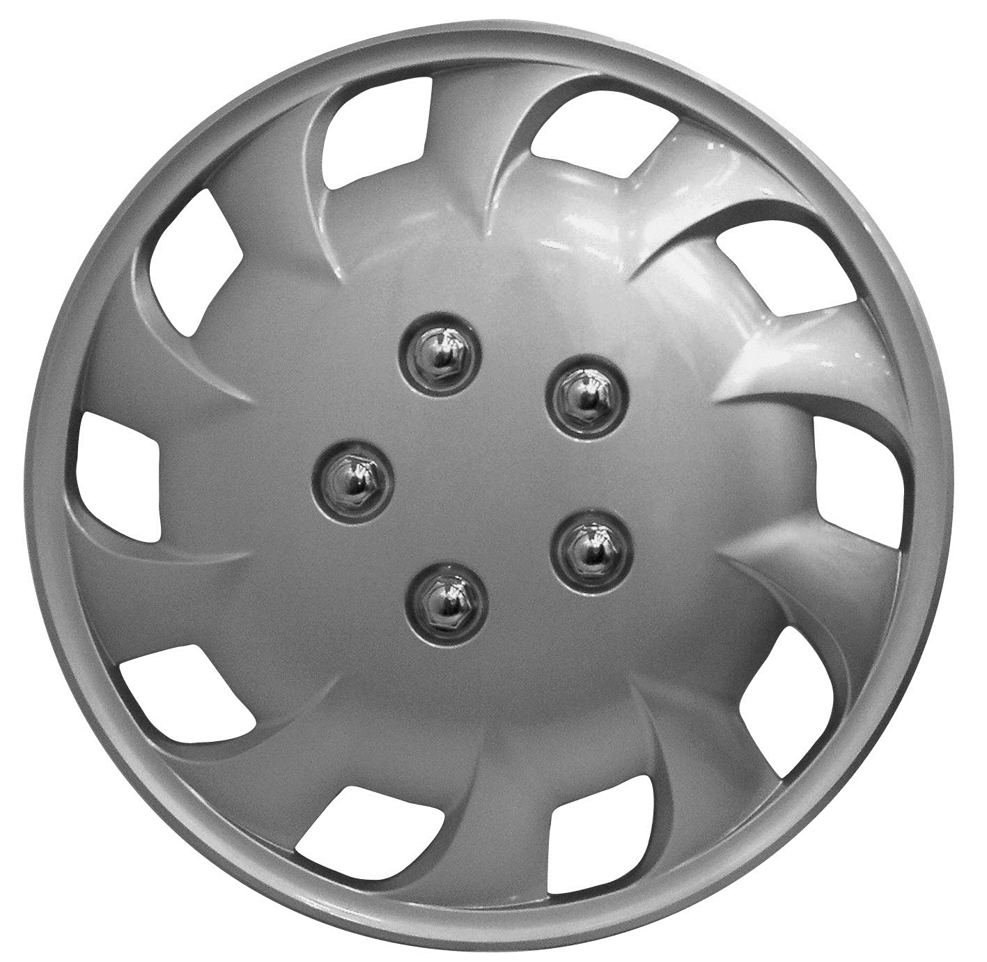 Details about Streetwize Mercury 14 Inch Wheel Trim Set Silver Set of 4 Hub Caps Covers 14
