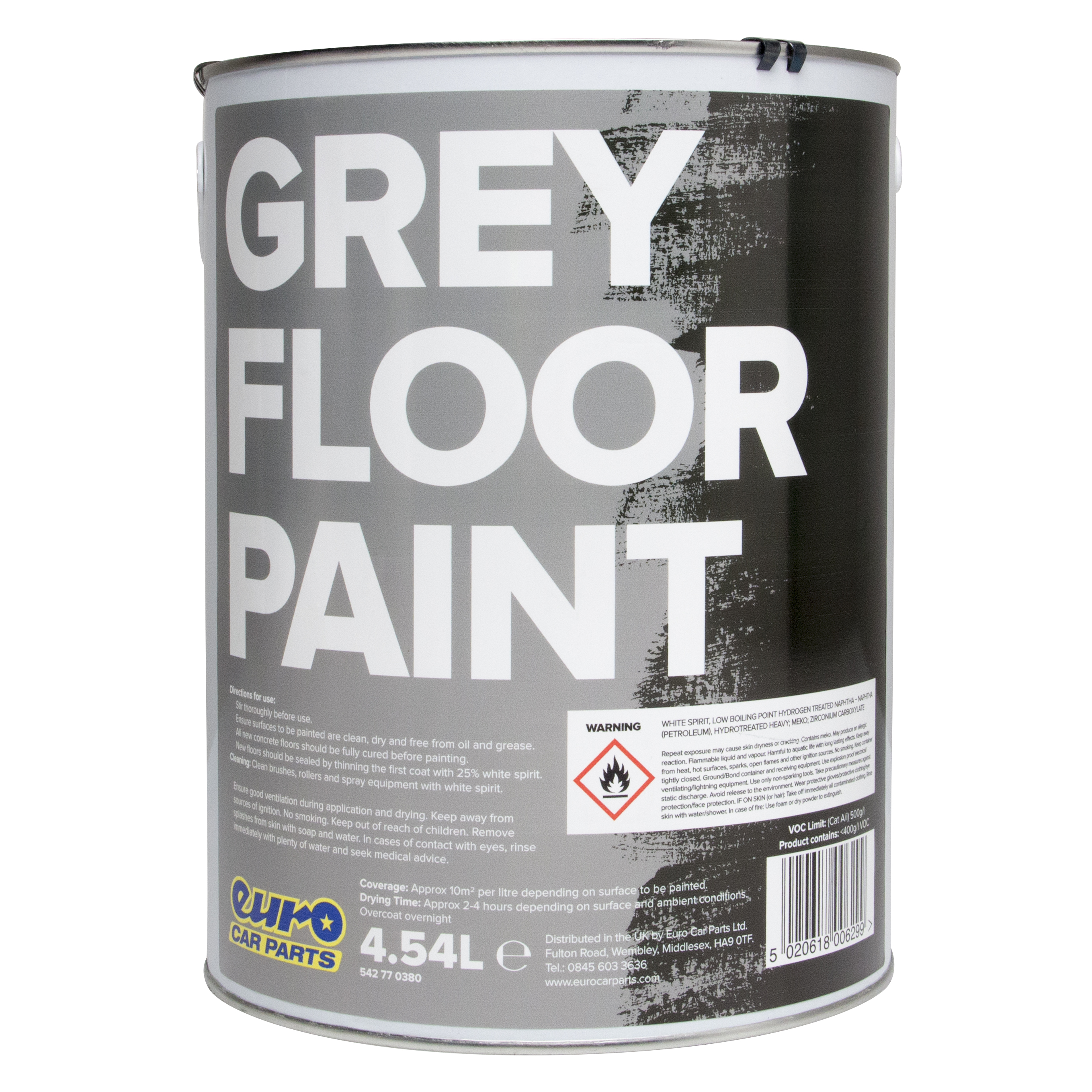 Eurocarparts Floor Paint Grey 4 5l Solvent Based 0629 Ebay