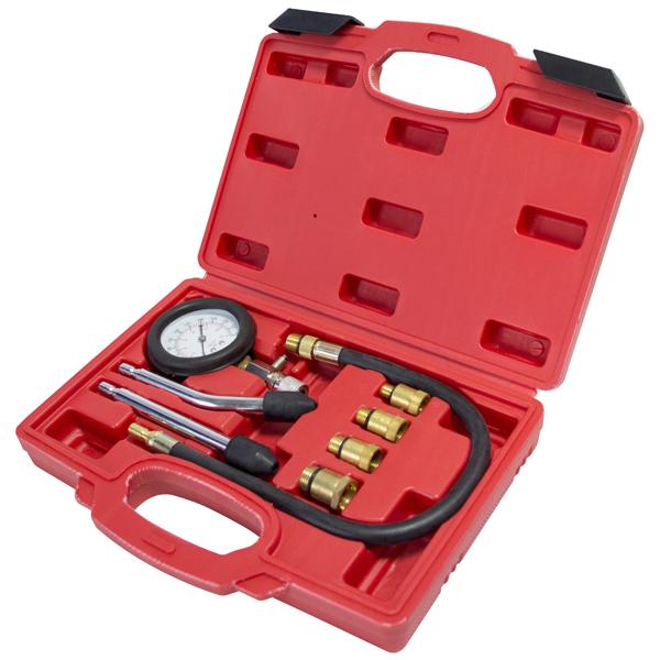 Am-Tech J2905 Automotive Compression Tester Kit 8 Pieces Spark Plug Adaptors