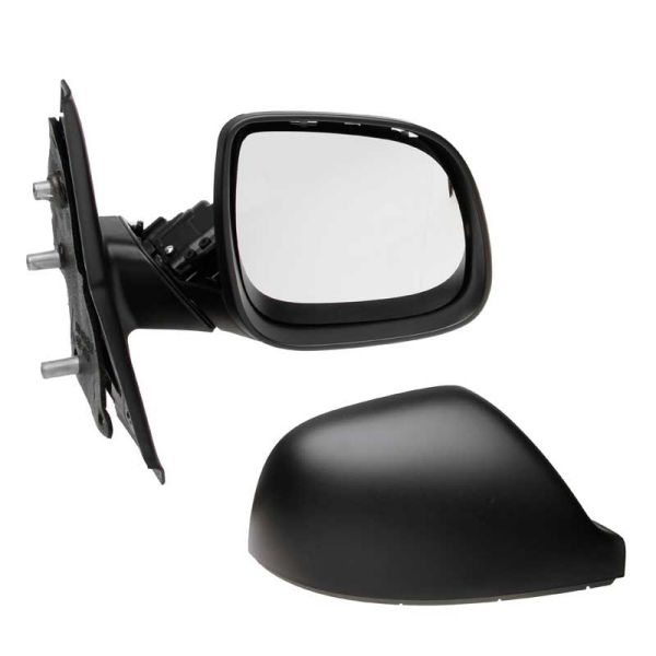 VW Transporter T4 1990-2003 Manual Wing Mirror Black Wide Housing Drivers Side