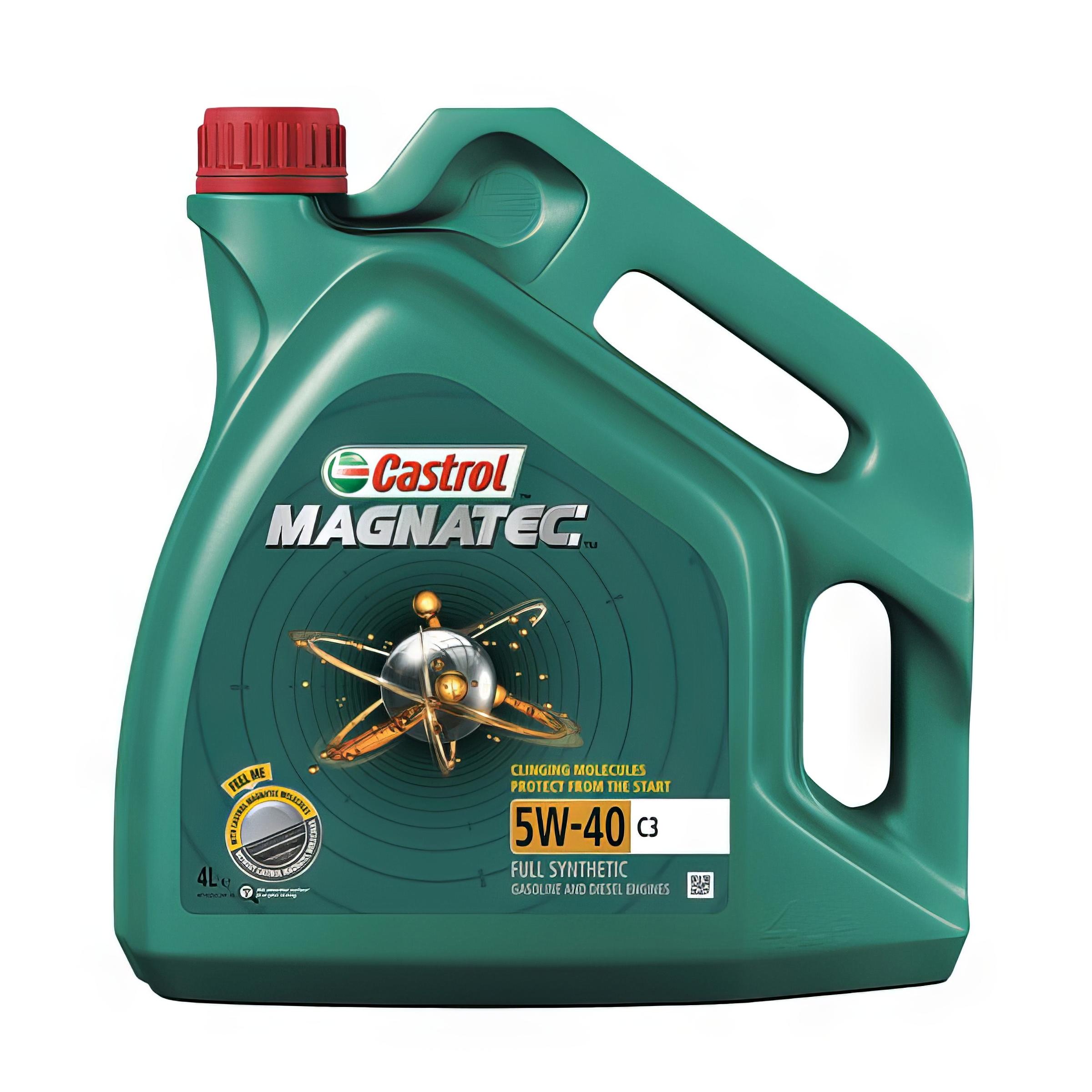 4L Car Engine Oil 4 Litres 5W40 C3 Fully Synthetic dexos2 Spec Castrol Magnatec