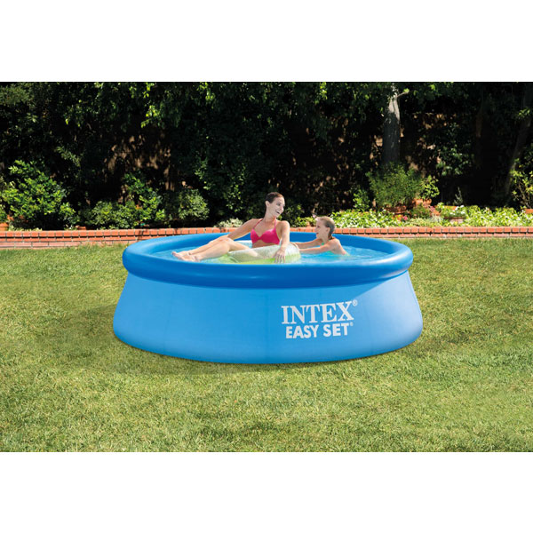 Bestway 8 Ft Fast Set Pool With Hand Pump /& Solar Cover Bundle