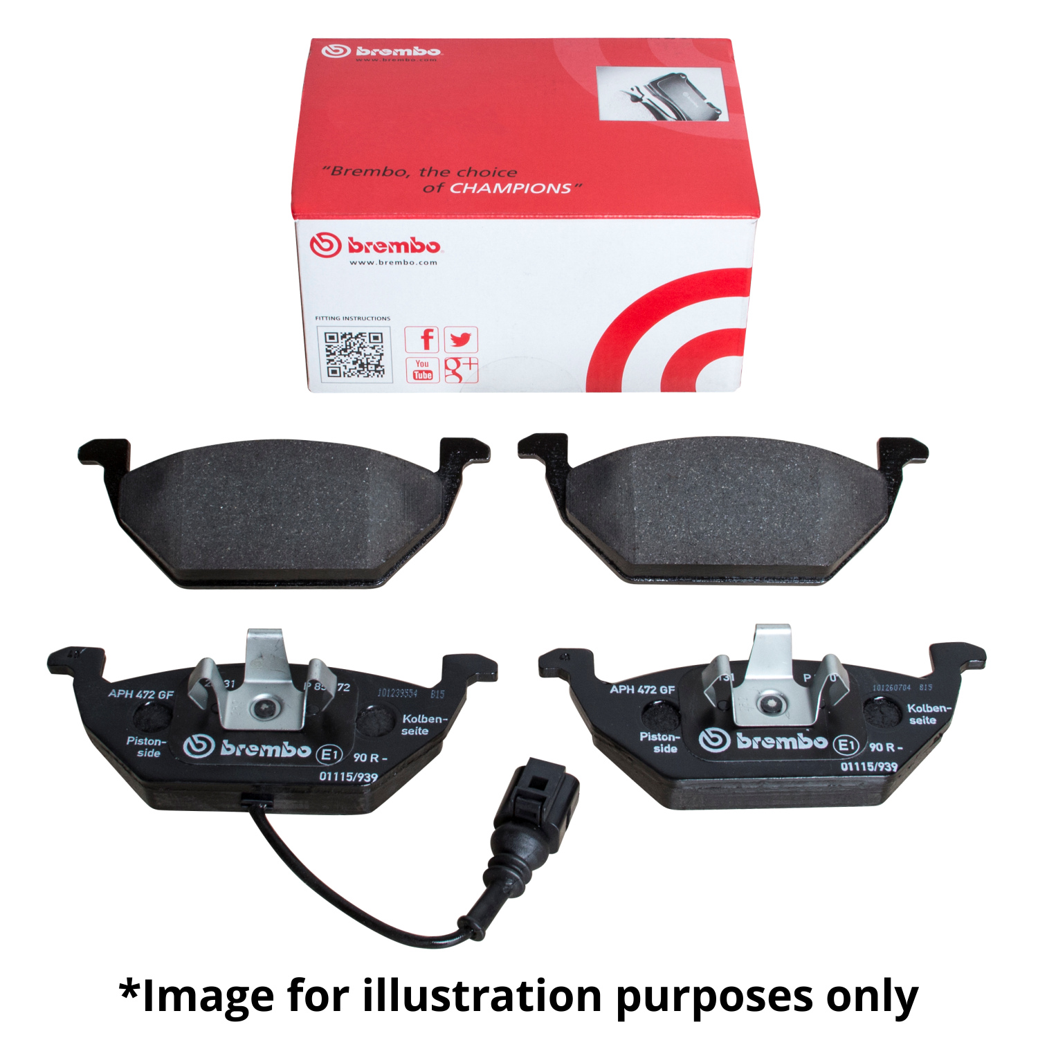 GENUINE BREMBO FRONT AXLE BRAKE PAD SET BRAKE KIT BRAKE PADS FOR TOYOTA AURIS