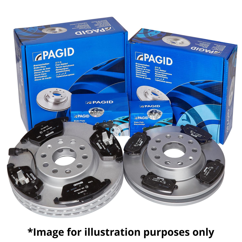 PAGID FRONT AND REAR AXLE BRAKE KIT BRAKE DISCS BRAKE PADS SET FOR AUDI TT