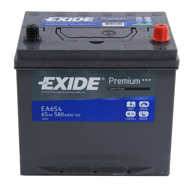 Type 005 Car Battery 580CCA Exide Premium 12V 65Ah 4 Years Wty OEM Replacement