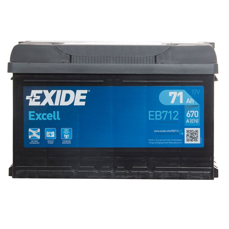 Exide Car Battery >> Details About Eb712 Excell 100 Car Battery 3 Years Warranty 71ah 670cca 12v Electrical Exide