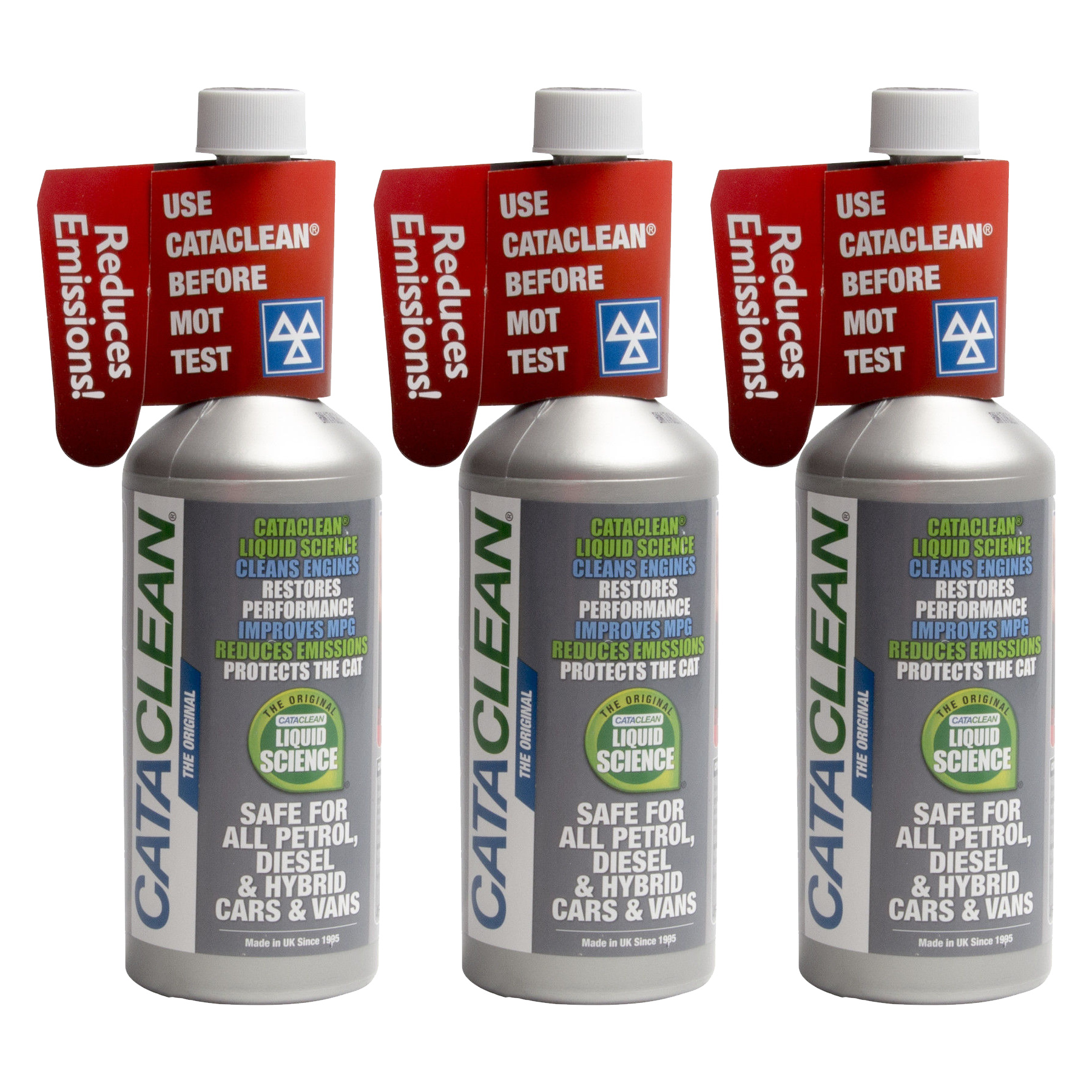 Catalytic Converter Cleaner 3x 450ml 135l For Petrol Diesel