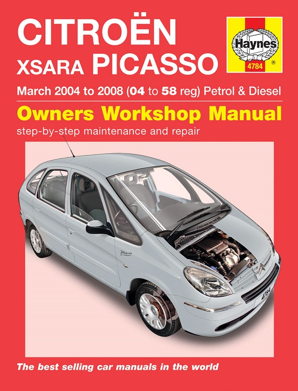Haynes Workshop Manual for Citroen Xsara Picasso Petrol & Diesel (04-08)