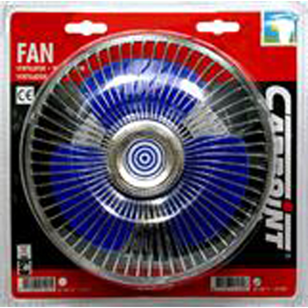 """Car Interior Cooling Fan 12V 2A 5/"""" Suction Mount 1.5m Cable Carpoint CPT0510019"""