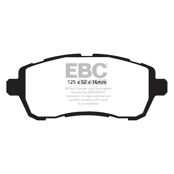 # DP42002R EBC Yellowstuff FRONT Brake Pads fit Ford Fiesta